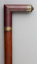 Decorative Arts, Continental, An English Mahogany Architect's Walking Stick, late 19th century.37 inches (94.0 cm).