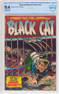 Black Cat Mystery #52 (Harvey, 1954) CBCS NM 9.4 Off-white to white pages