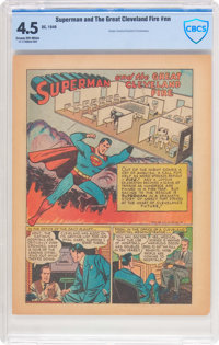 Superman and The Great Cleveland Fire #nn (DC, 1948) CBCS VG+ 4.5 Cream to off-white pages