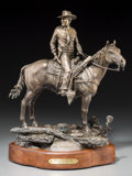 Fine Art - Sculpture, American:Contemporary (1950 to present), Cary Clawson (American, 1945-2009). One Man's Dream, 1985. Bronze with brown patina. 15 inches (38.1 cm) high on a 1-3/4...
