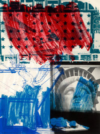 Robert Rauschenberg (1925-2008) People for the American Way, 1991 Lithograph and screenprint in colo