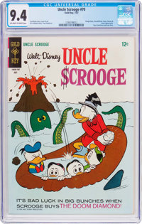 Uncle Scrooge #70 (Gold Key, 1967) CGC NM 9.4 Off-white to white pages