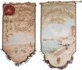 Other, A Group of Three Motoring Banners. 113 inches high x 39 inches wide (287.0 x 99.1 cm) (largest). Property from the Estate ... (Total: 3 Items)