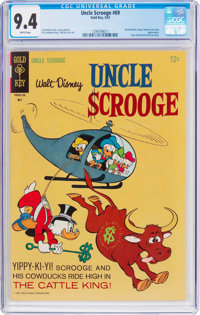 Uncle Scrooge #69 (Gold Key, 1967) CGC NM 9.4 White pages