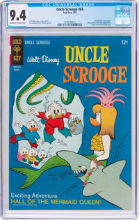 Uncle Scrooge #68 (Gold Key, 1967) CGC NM 9.4 Off-white to white pages