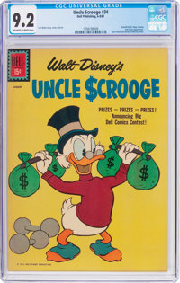 Uncle Scrooge #34 (Dell, 1961) CGC NM- 9.2 Off-white to white pages