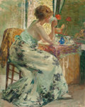 Fine Art - Painting, American, Louis Ritman (American, 1889-1963). Interior. Oil on canvas.36 x 29 inches (91.4 x 73.7 cm). Sign...