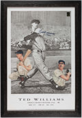 "Autographs:Others, Ted Williams ""1942"" Signed Lithograph. ..."