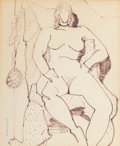 Fine Art - Work on Paper, Milton Avery (American, 1885-1965). Proud Nude, 1948. Ink onpaper. 16-3/4 x 13-3/4 inches (42.5 x 34.9 cm) (sheet). Sig...