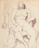 Milton Avery (American, 1885-1965) Proud Nude, 1948 Ink on paper 16-3/4 x 13-3/4 inches (42.5 x 34.9 cm) (sheet) Sig