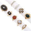 Estate Jewelry:Rings, Diamond, Multi-Stone, Gold Rings . ... (Total: 9 Items)