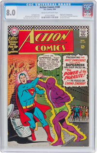 Action Comics #340 (DC, 1966) CGC VF 8.0 Cream to off-white pages