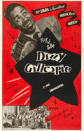 "Movie Posters:Musical, Dizzy Gillespie and His Orchestra (Transvideo Corporation ofAmerica, 1940s). One Sheet (27"" X 41.5"").. ..."