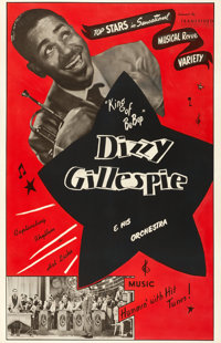 "Dizzy Gillespie and His Orchestra (Transvideo Corporation of America, 1940s). One Sheet (27"" X 41.5"")"