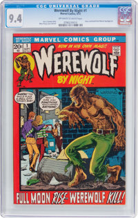 Werewolf by Night #1 (Marvel, 1972) CGC NM 9.4 Off-white to white pages