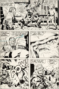 Original Comic Art:Panel Pages, Jack Kirby and D. Bruce Berry Kamandi, the Last Boy on Earth#20 Story Page 6 Original Art (DC, 1974)....
