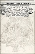 Original Comic Art:Miscellaneous, Rich Buckler (as Validar) Fantastic Four #196 PreliminaryCover Original Art (Marvel Comics, 1978)....