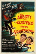 "Movie Posters:Horror, Abbott and Costello Meet Frankenstein (Universal International, 1948). One Sheet (27"" X 41"").. ..."