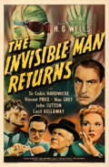 "Movie Posters:Horror, The Invisible Man Returns (Universal, 1940). One Sheet (27"" X41"").. ..."