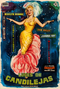 """There's No Business Like Show Business (20th Century Fox, R-1959). Spanish One Sheet (26.75"""" X 39.5"""") Jano Art..."""