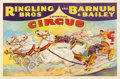 "Movie Posters:Miscellaneous, Ringling Brothers and Barnum & Bailey (E.J. Warner, c.1935).Circus Poster (28"" X 42"").. ..."