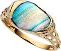Estate Jewelry:Bracelets, Boulder Opal, Diamond, Gold Bracelet. ...