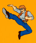 Animation Art:Color Model, Chuck Norris: Karate Kommandos Color Model Cel (Ruby-Spears,1986)....