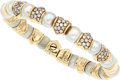 Estate Jewelry:Bracelets, Diamond, Cultured Pearl, Gold Bracelet. ...