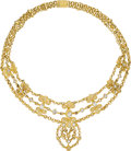 Estate Jewelry:Necklaces, Diamond, Gold Necklace, Chatila. ...