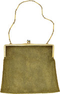 Estate Jewelry:Purses, Art Deco Synthetic Sapphire, Gold Purse. ...