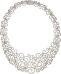 Estate Jewelry:Necklaces, Diamond, White Gold Necklace, Bailey Banks & Biddle. ...