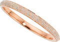 Estate Jewelry:Bracelets, Diamond, Rose Gold Bracelet The bangle feature...