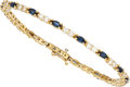 Estate Jewelry:Bracelets, Sapphire, Diamond, Gold Bracelet The bracelet ...