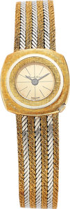 Estate Jewelry:Watches, Bueche Girod Lady's Gold Integral Bracelet Watch. ...