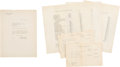 Autographs:Military Figures, Charles A. Lindbergh Typed Letter Signed and Signed Photograph ...