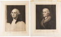 Books:Prints & Leaves, Group of Three Presidential Portrait Etchings Signed by Jacques Reich.... (Total: 4 Items)