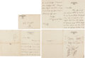 Autographs:Military Figures, General Douglas MacArthur Two Autograph Letters Signed and Drawing. ... (Total: 2 Items)