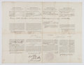 Autographs:U.S. Presidents, James Buchanan Signed Four Languages Ship's Whaling Papers....