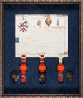 Autographs:Non-American, [Sir Ralph Abercromby]. Illuminated Coat of Arms Issued to...