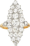 Estate Jewelry:Rings, Victorian Diamond, Platinum-Topped Gold Ring. ...