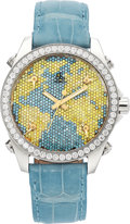 Estate Jewelry:Watches, Jacob & Co. Women's Diamond, Colored Diamond, Stainless SteelFive Time Zone Watch. ...