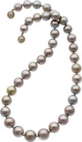 Estate Jewelry:Necklaces, South Sea Cultured Pearl, White Gold Necklace . ...