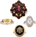 Estate Jewelry:Rings, Diamond, Multi-Stone, Seed Pearl, Platinum-Topped Gold, Gold Rings. ... (Total: 4 Items)