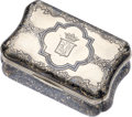 Estate Jewelry:Boxes, Silver Niello Snuff Box, Russian. ...