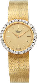 Estate Jewelry:Watches, Chopard Lady's, Diamond, Gold Integral Bracelet Watch. ...