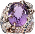 Estate Jewelry:Rings, Multi-Stone, Diamond, White Gold Ring. ...