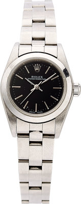 Rolex Lady's Stainless Steel Oyster Perpetual Watch