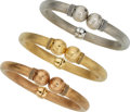 Estate Jewelry:Bracelets, Gold Bracelets . ... (Total: 3 Items)
