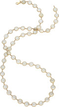 Estate Jewelry:Necklaces, Moonstone, Gold Necklace . ...