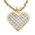 Estate Jewelry:Pendants and Lockets, Diamond, Gold Pendant-Necklace . ...
